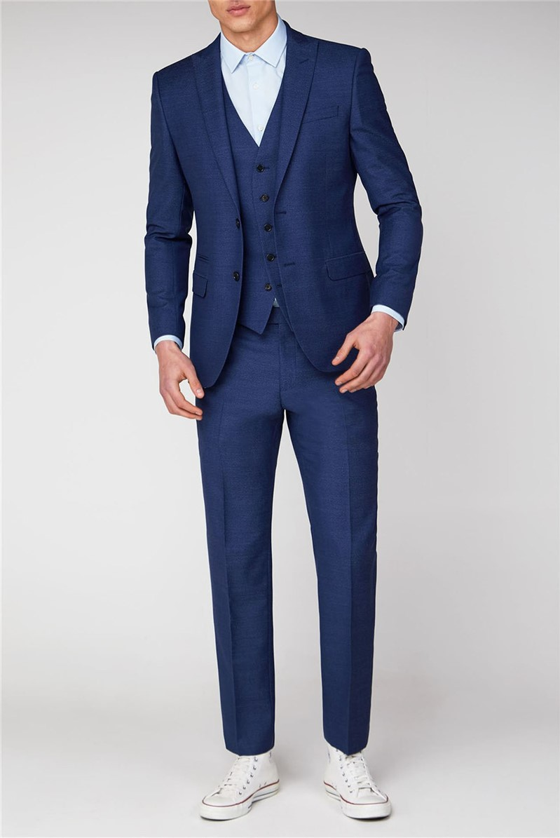 Blue Jaspe Skinny Fit Two Piece Suit