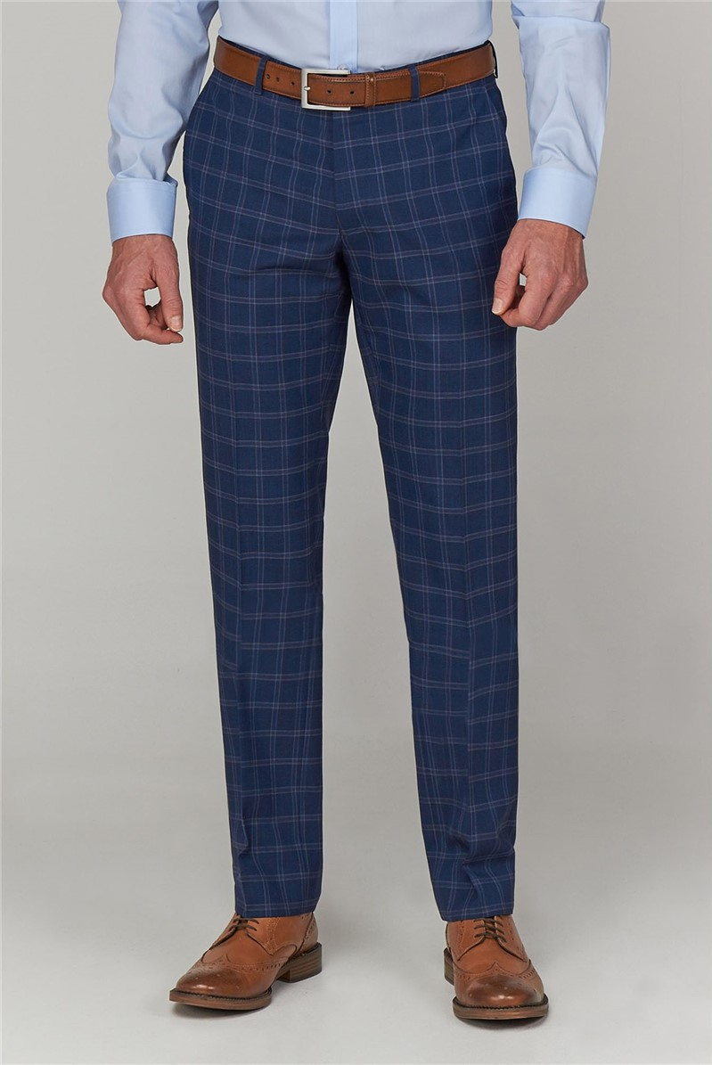 Airforce Windowpane Tailored Fit Trousers