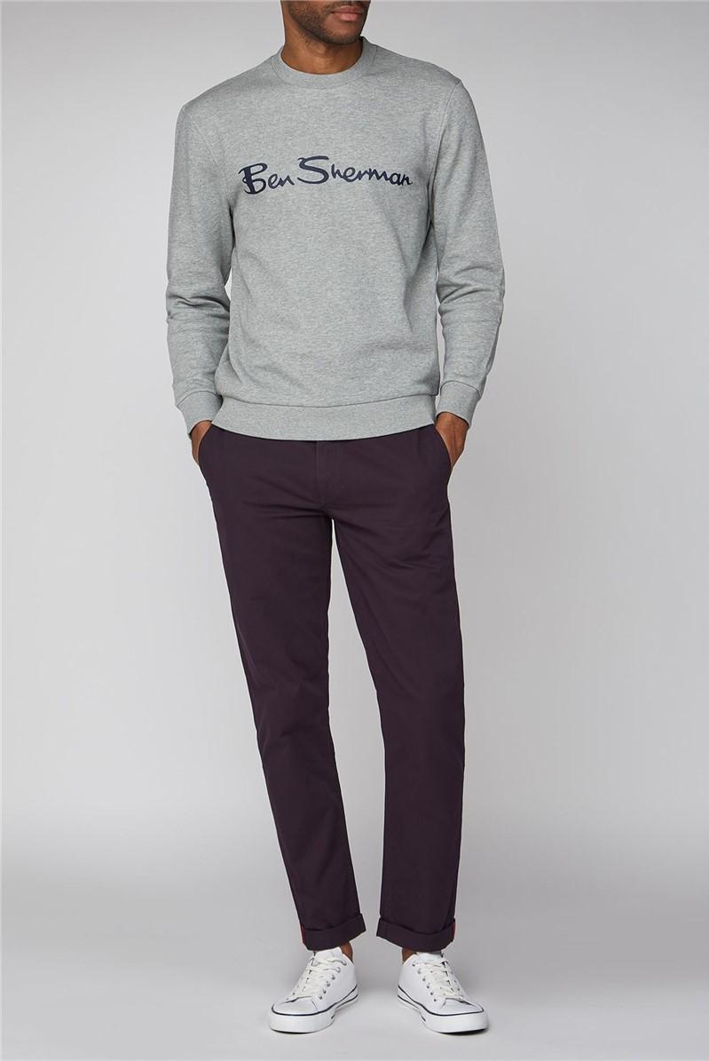Grey Logo Men's Sweatshirt