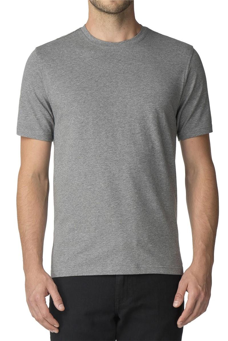 Mid Grey Crew Neck Stretch T-Shirt