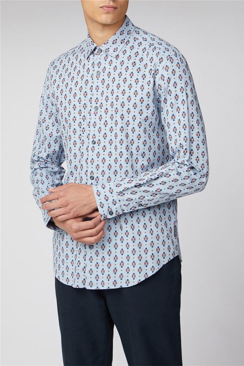Long Sleeve Scattered Fairisle Print Shirt