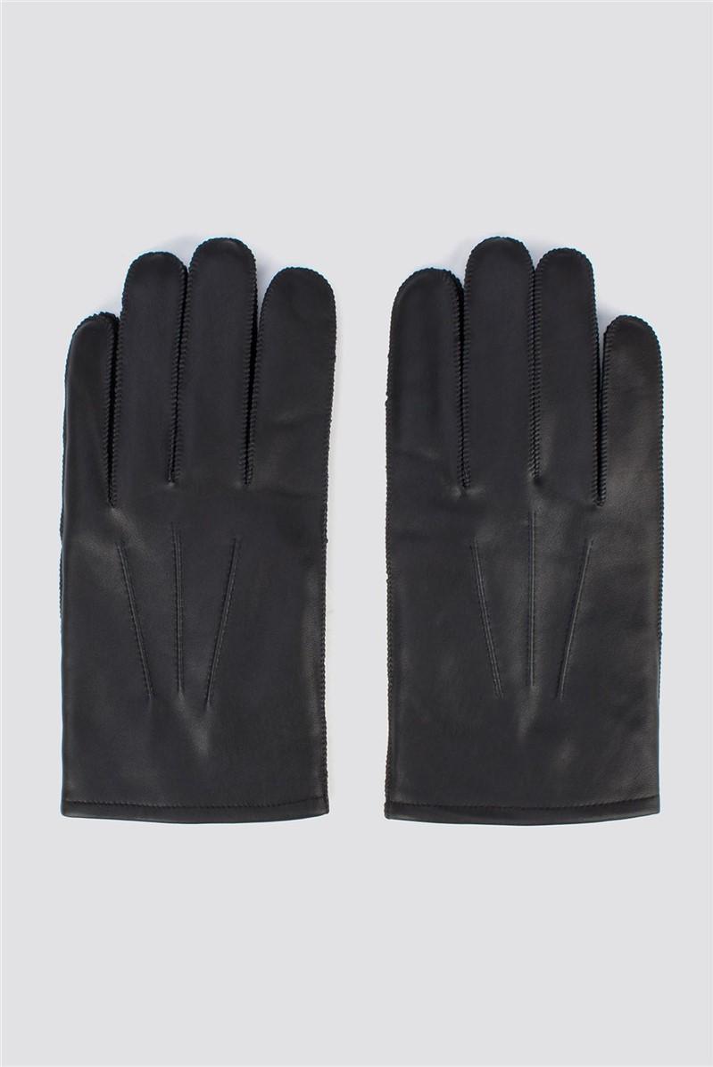 Black Leather Glove