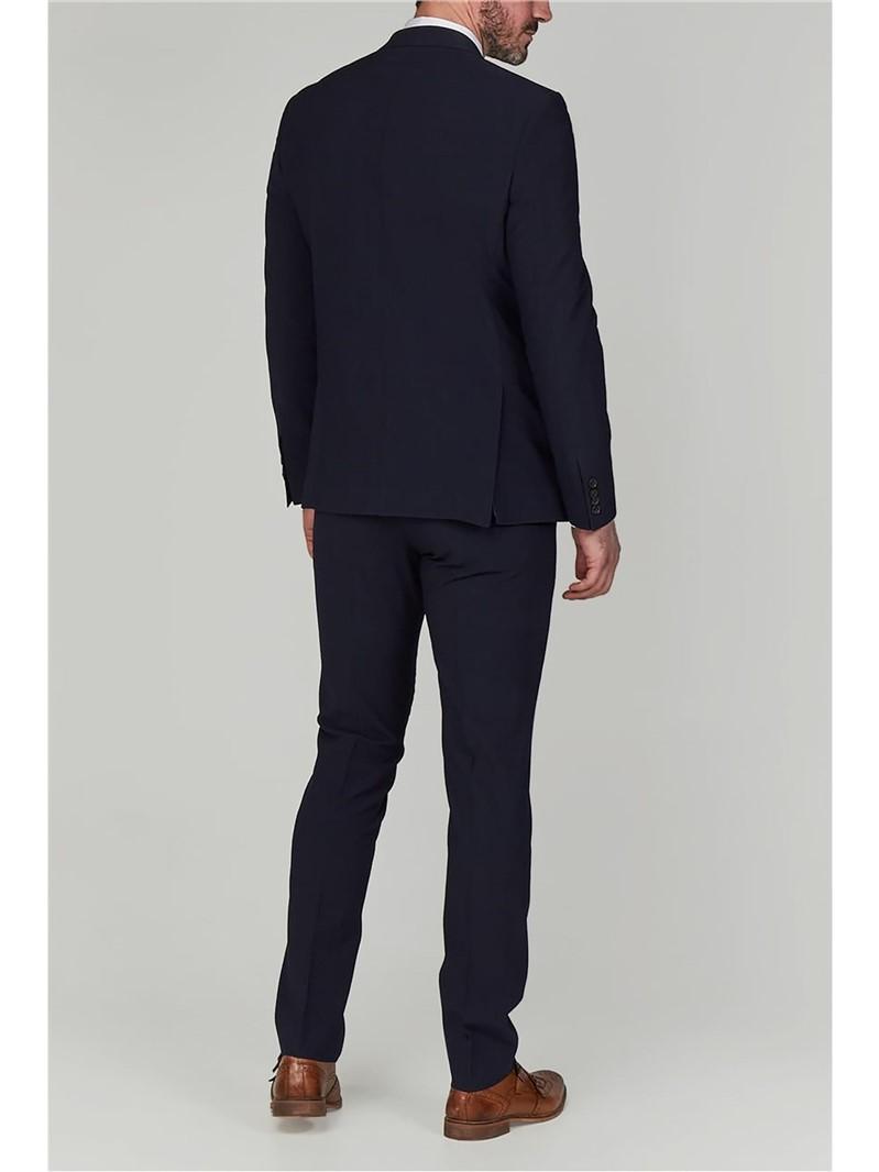 Stvdio Navy Seersucker Slim Fit Ivy League Jacket