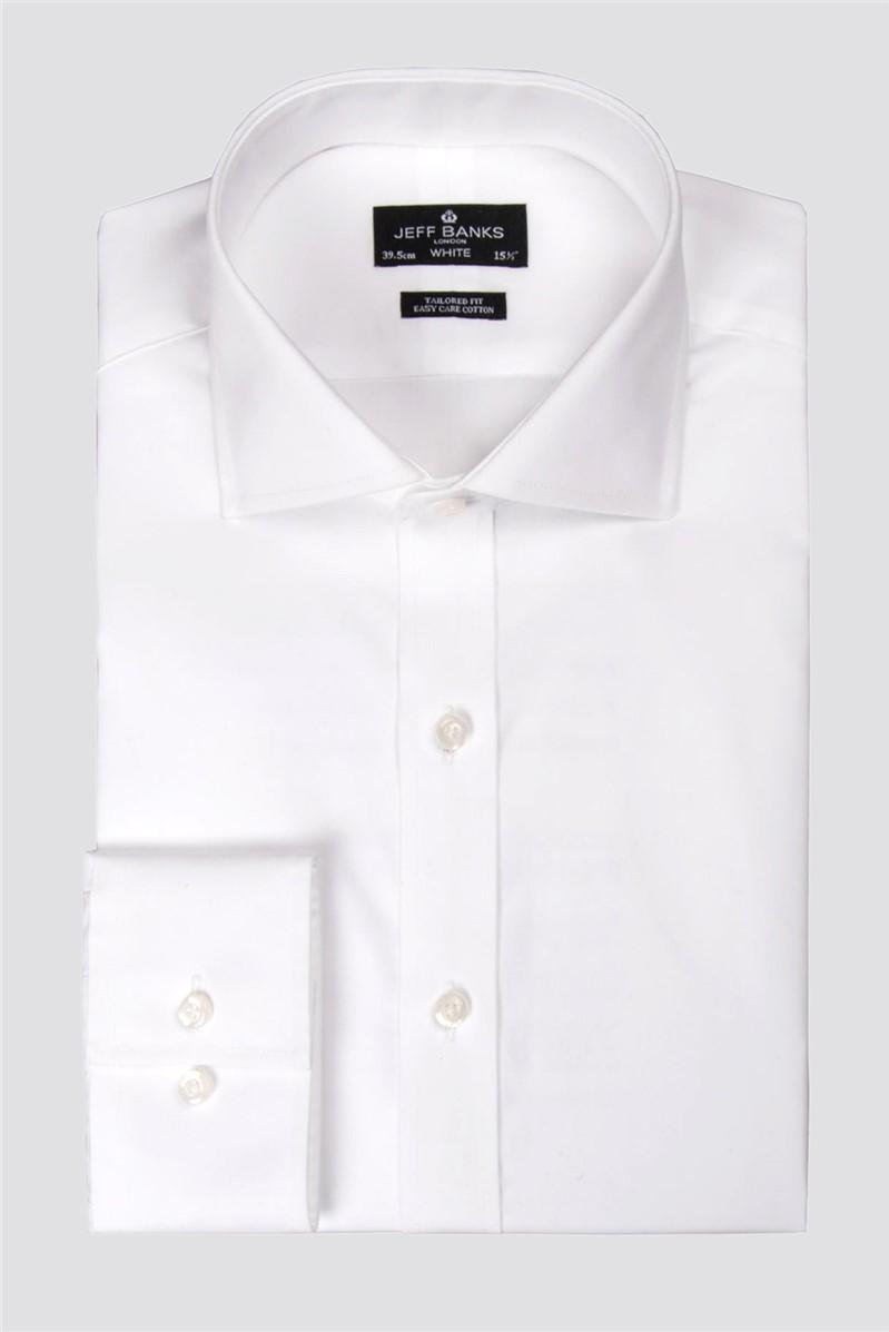 White Single Cuff Cutaway Shirt