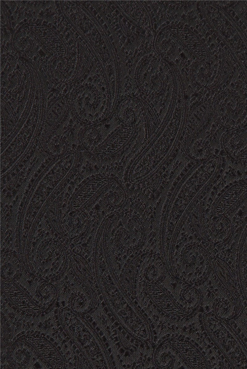 Black Jacquard Dress Scarf