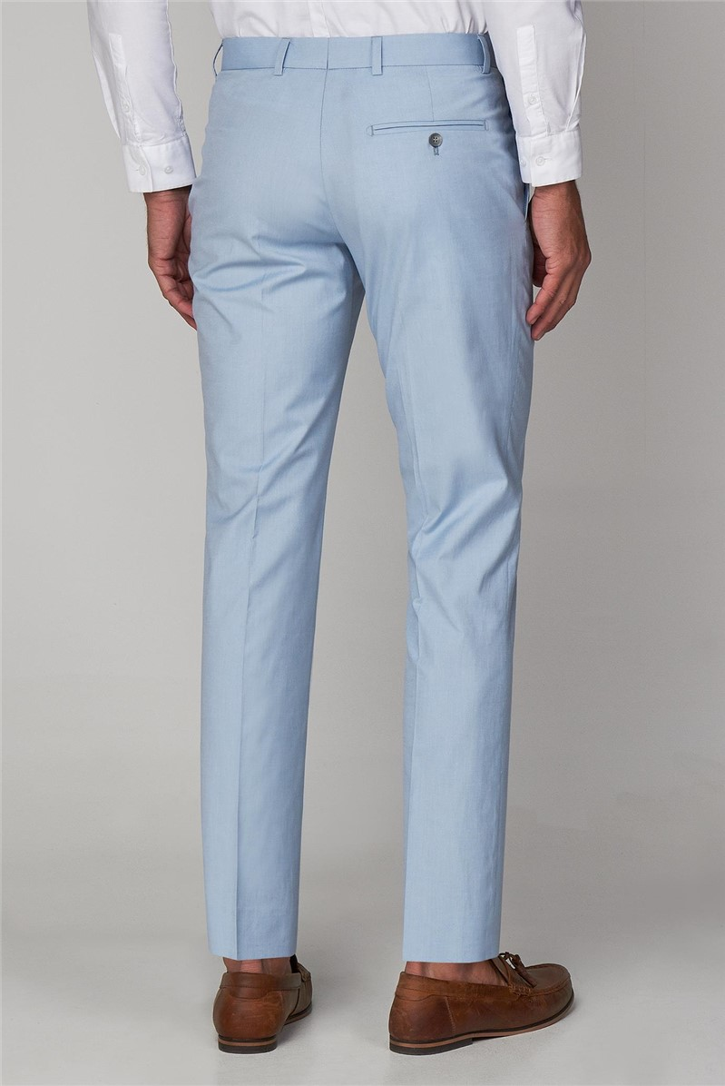 Spearmint Cotton Tailored Fit Suit Trousers