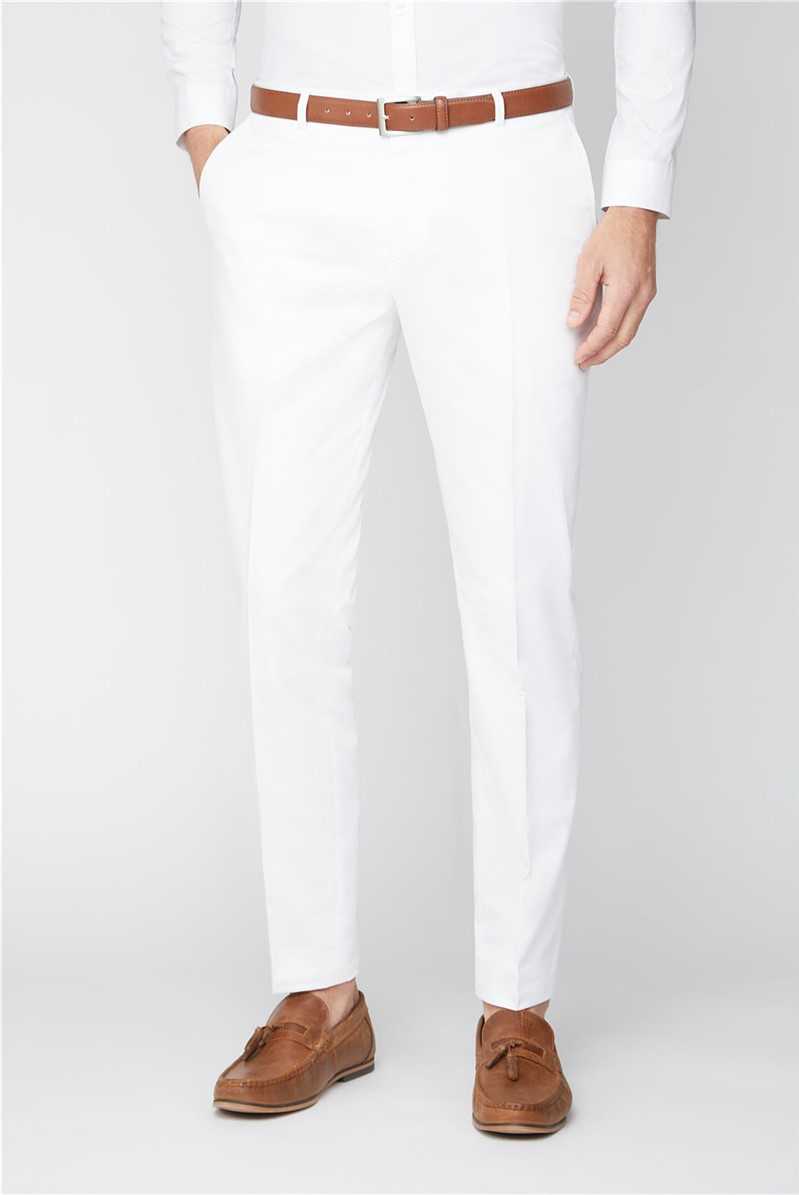 Malmo White Skinny Suit Trouser