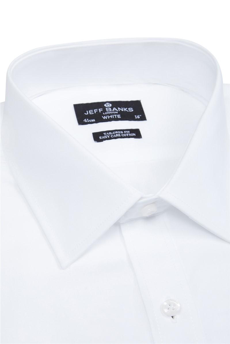 White Single Cuff Half Cutaway Shirt
