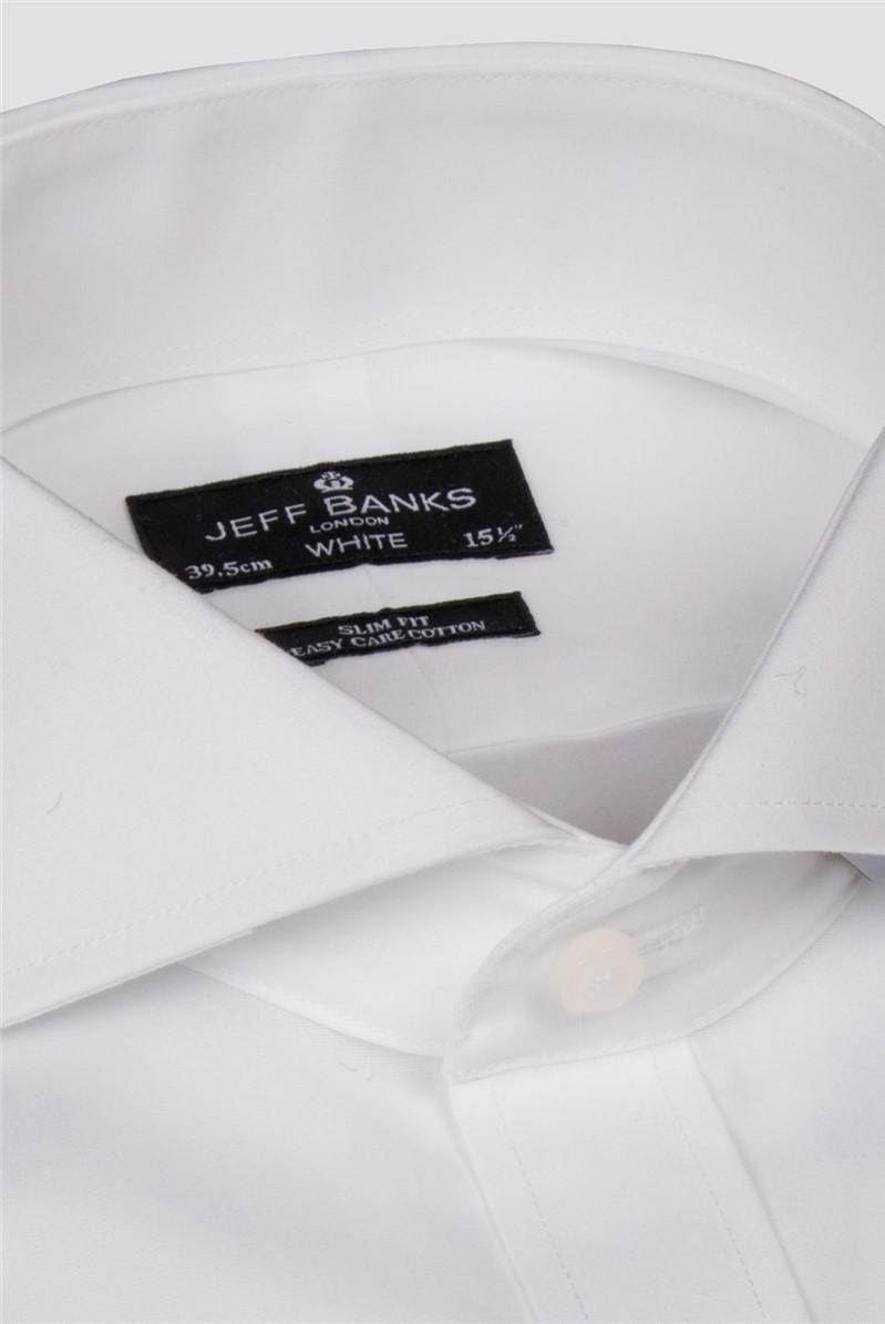 White Single Suff Cutaway Slim Shirt
