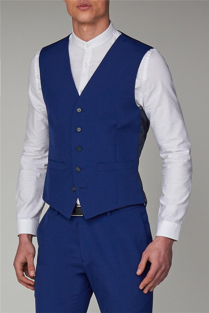 Cobalt Blue Regular Fit Waistcoat