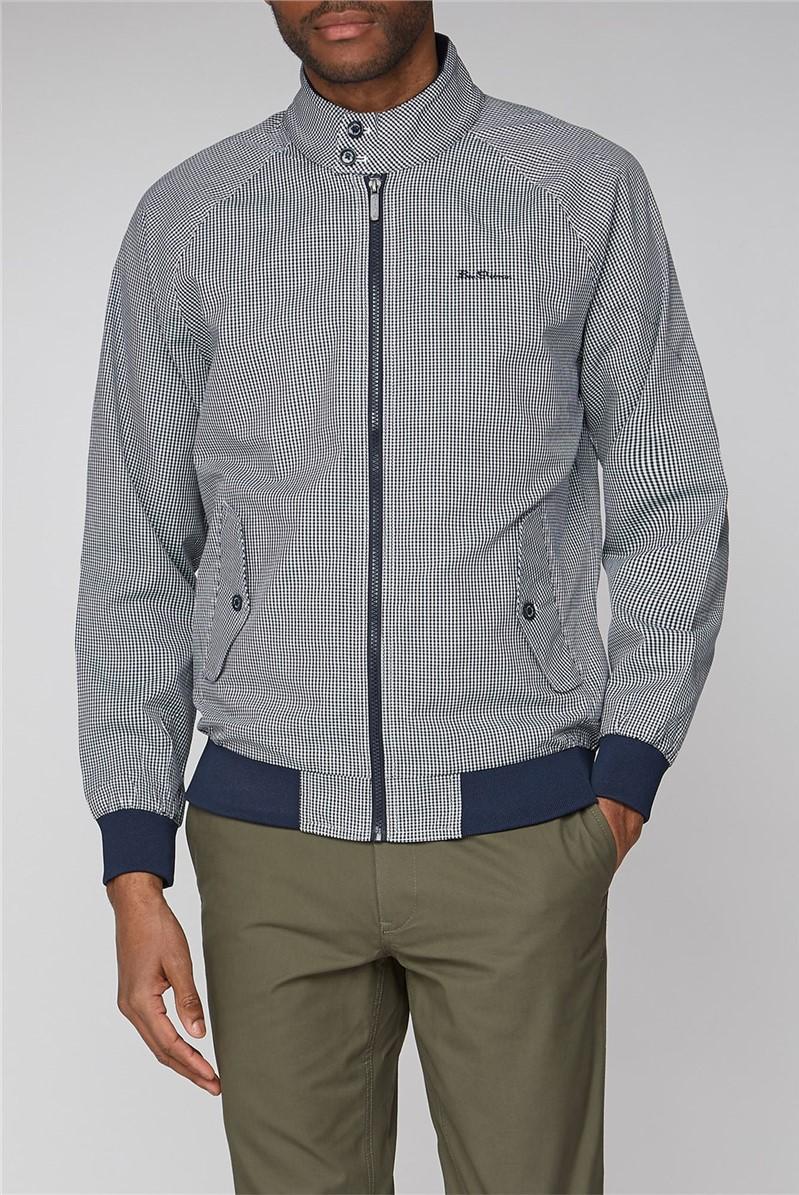 Navy Check Fashion Harrington