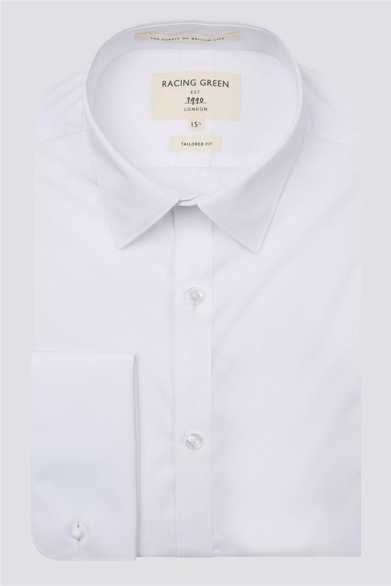 White Poplin Double Cuff Shirt