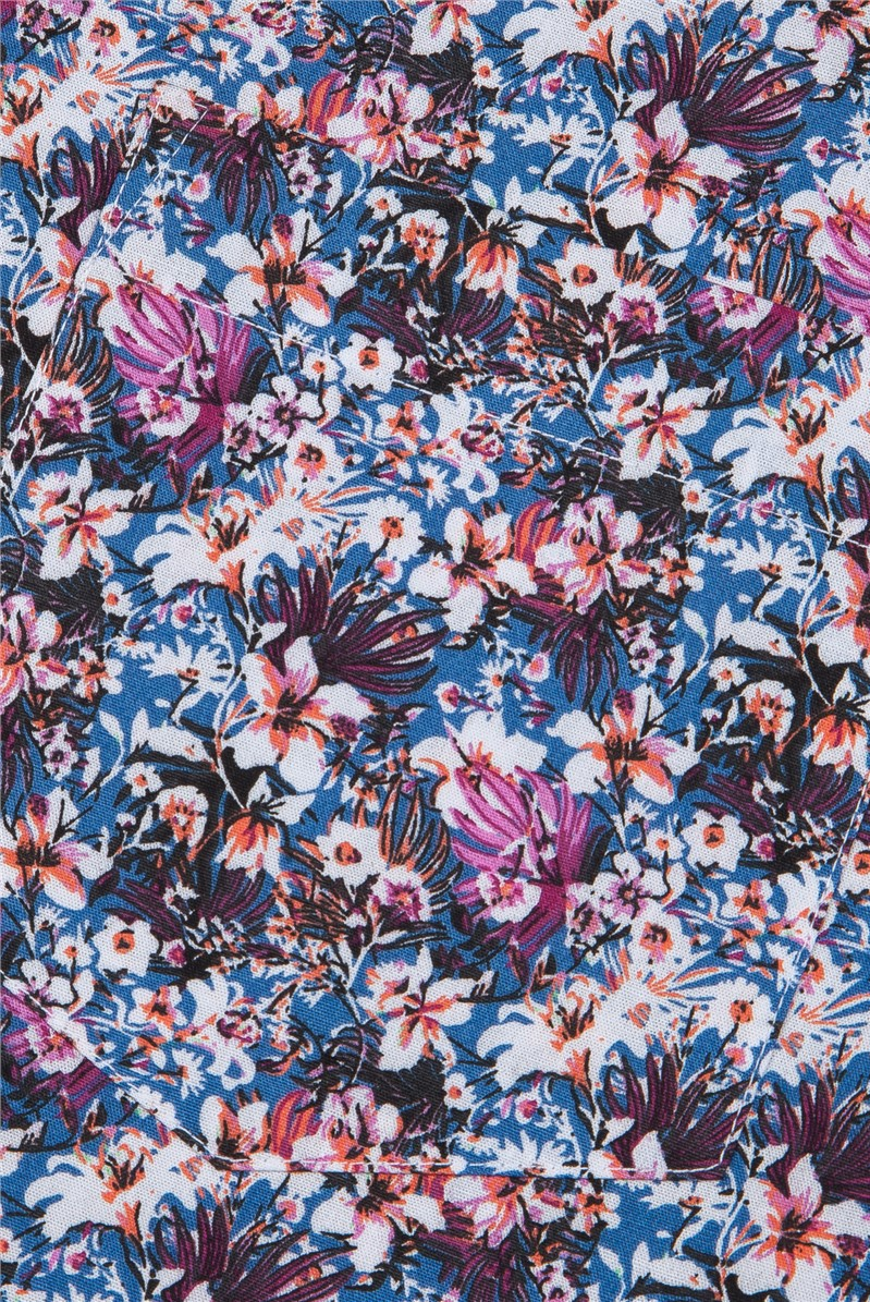 Multi Coloured Busy Floral Print Shirt