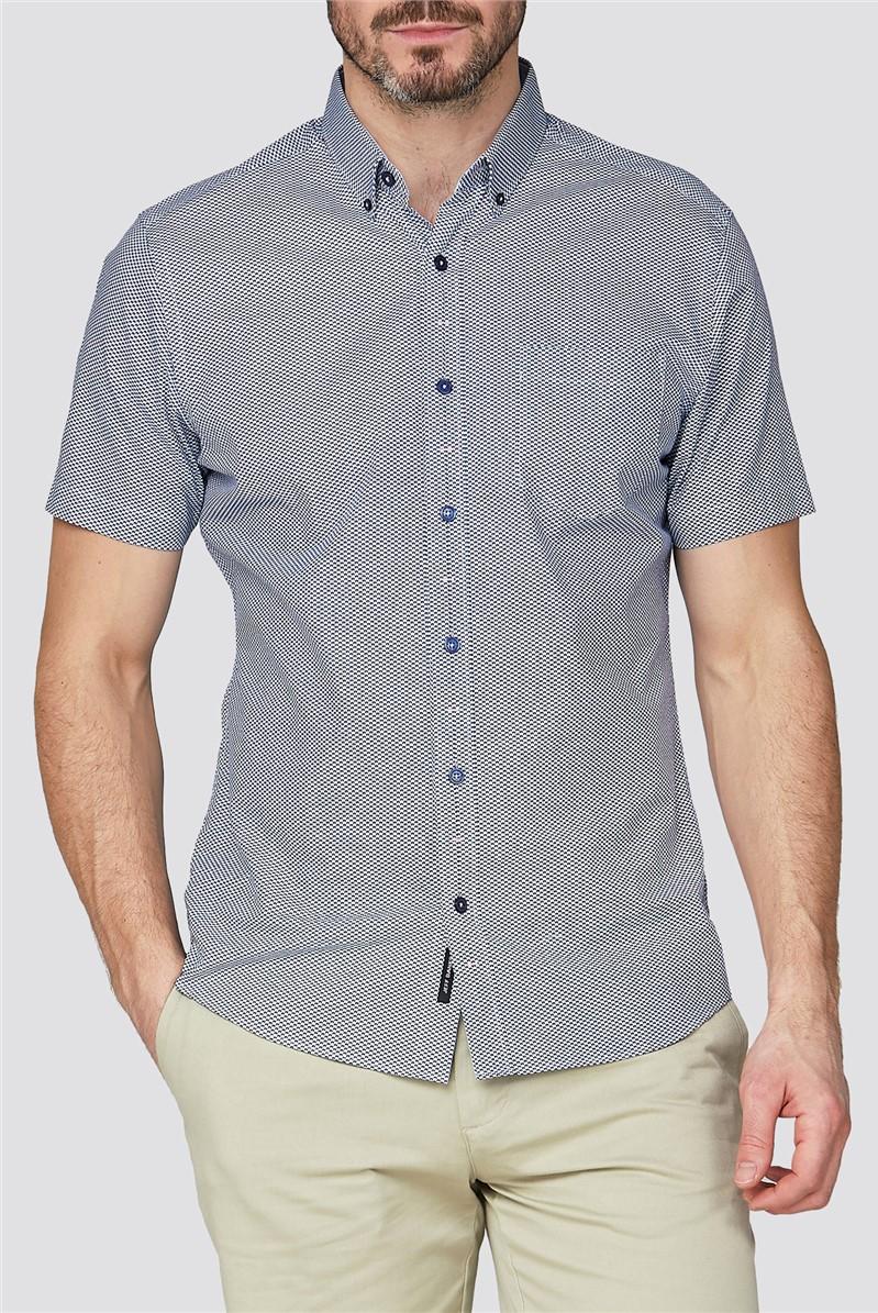Trs/Shirts White Oval Print Shirt