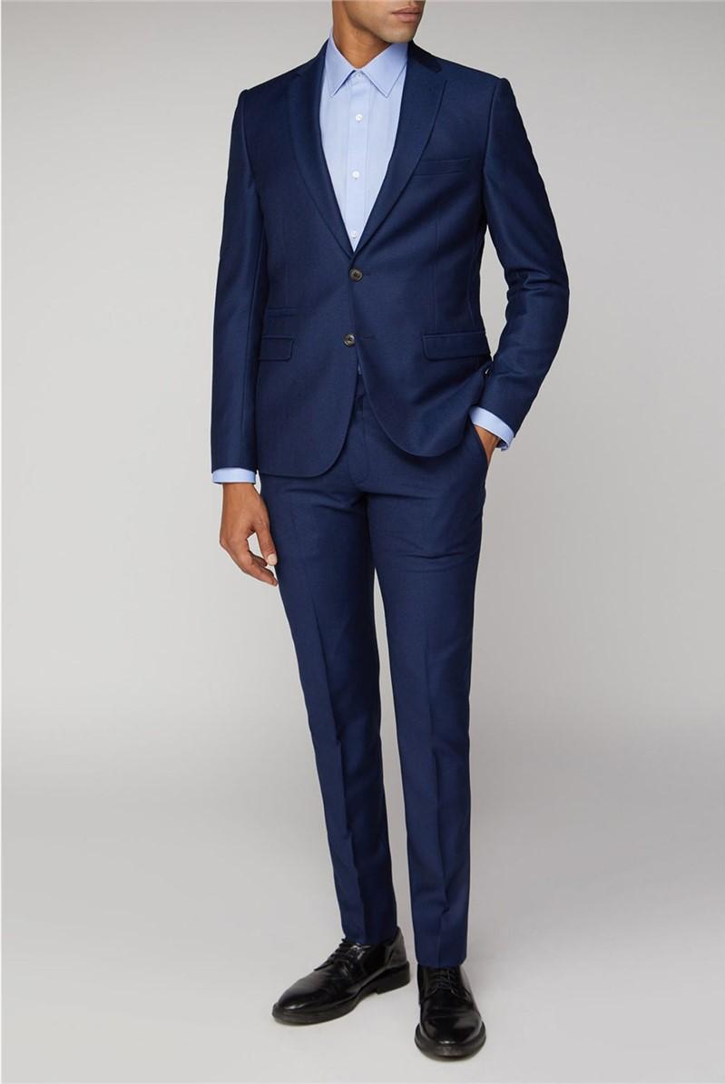 British Bright Blue Crepe Suit