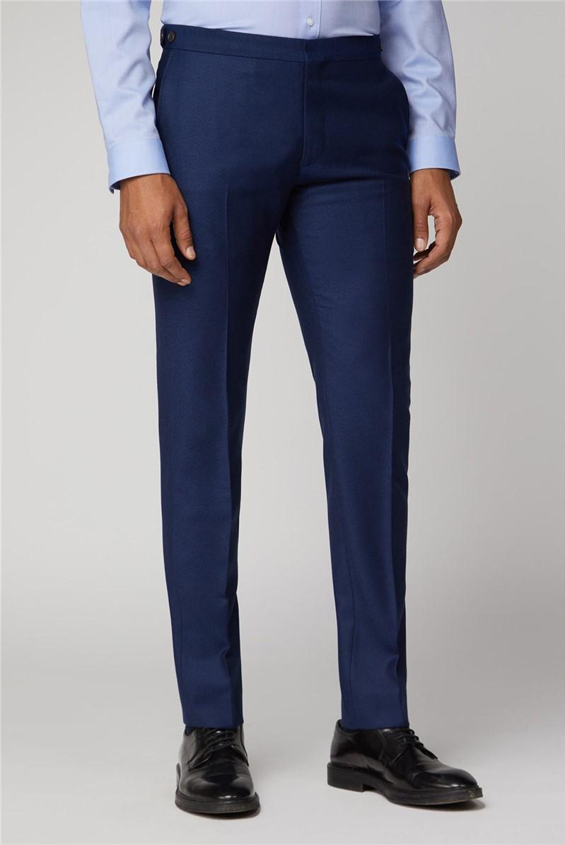 British Bright Blue Crepe Suit Trouser
