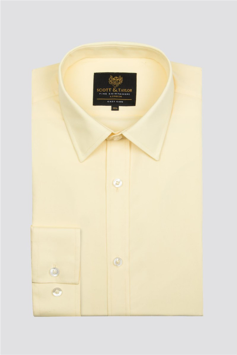 Scott & Taylor Yellow Poplin Shirt