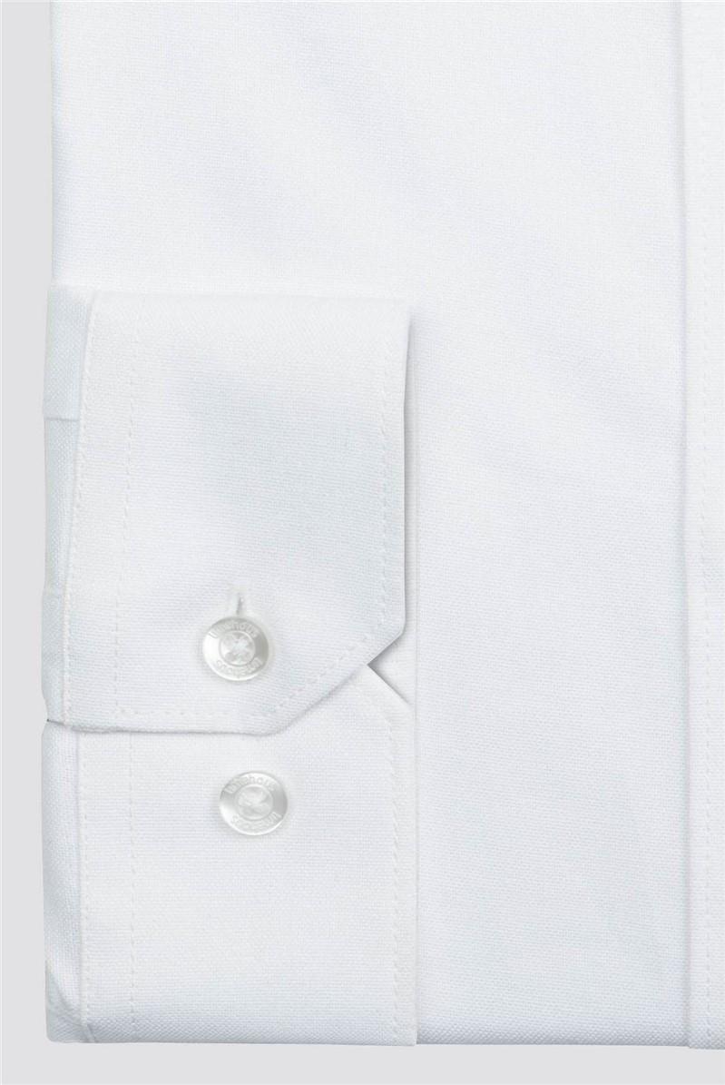 White Granded Collar Shirt