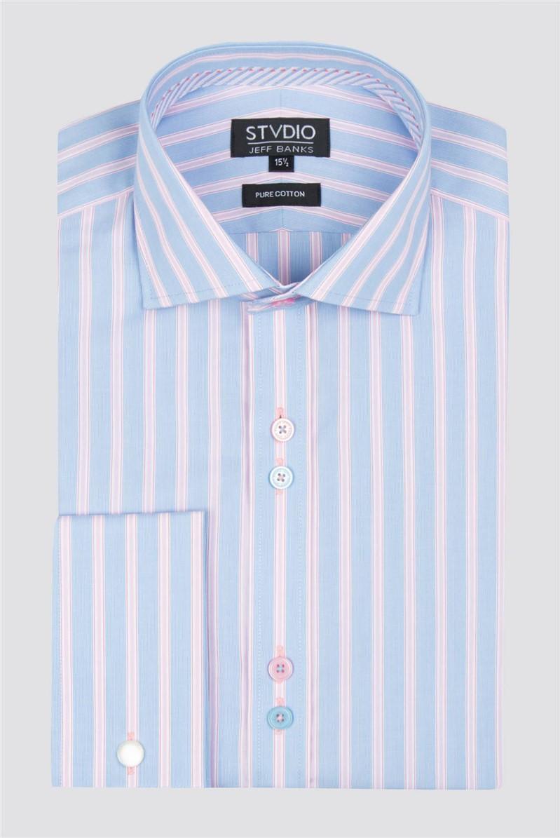 Stvdio Pink Business Stripe Shirt
