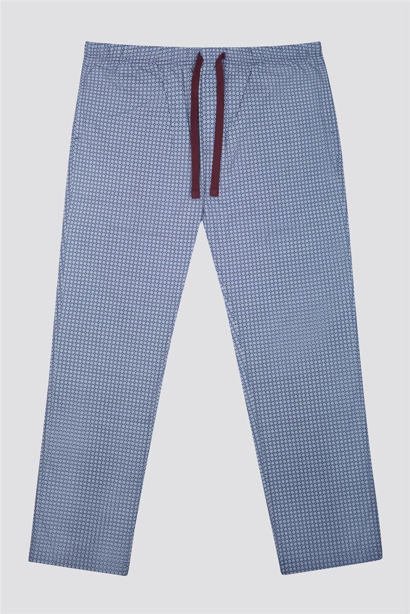 Printed Cotton Poplin Loungewear Bottoms