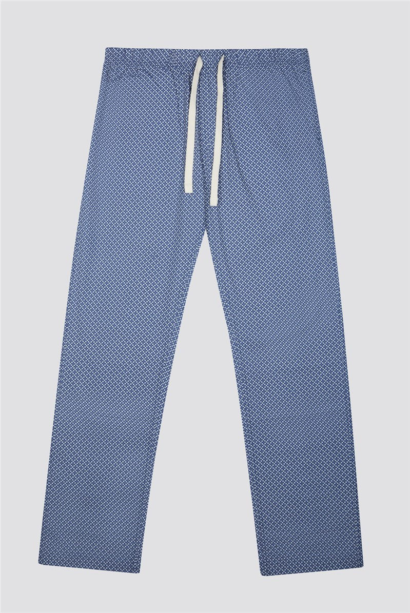 Navy Cotton Poplin Loungewear Bottoms