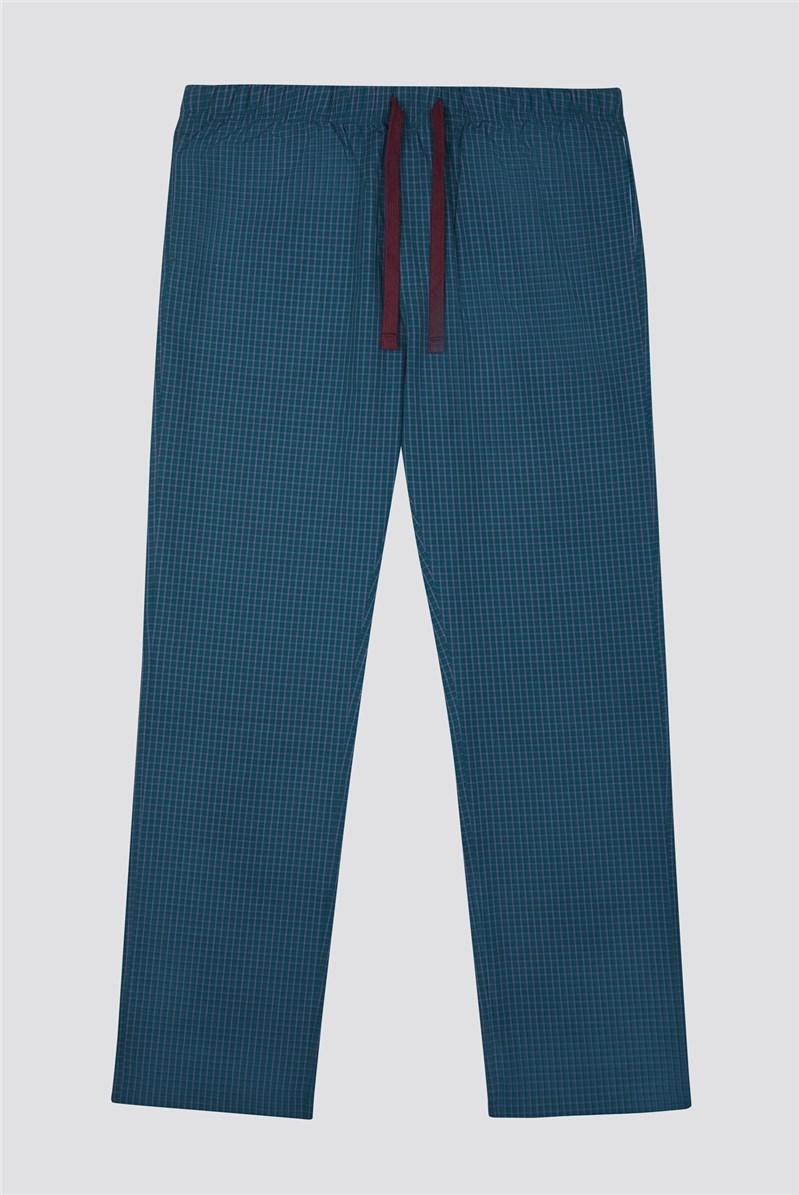 Cotton Check Poplin Loungewear Bottoms