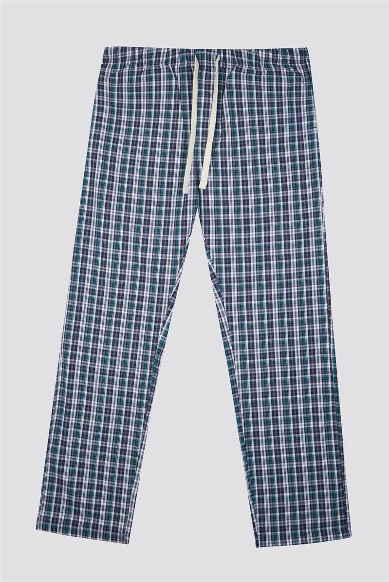 Cotton Check Men's Loungewear Bottoms