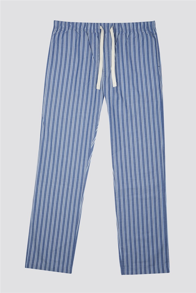 Striped Cotton Oxford Loungewear Pant