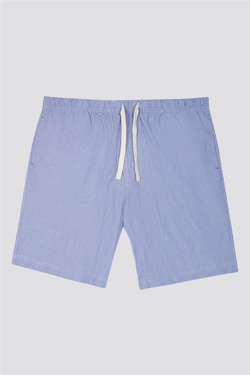 Men's Striped Cotton Loungewear Shorts