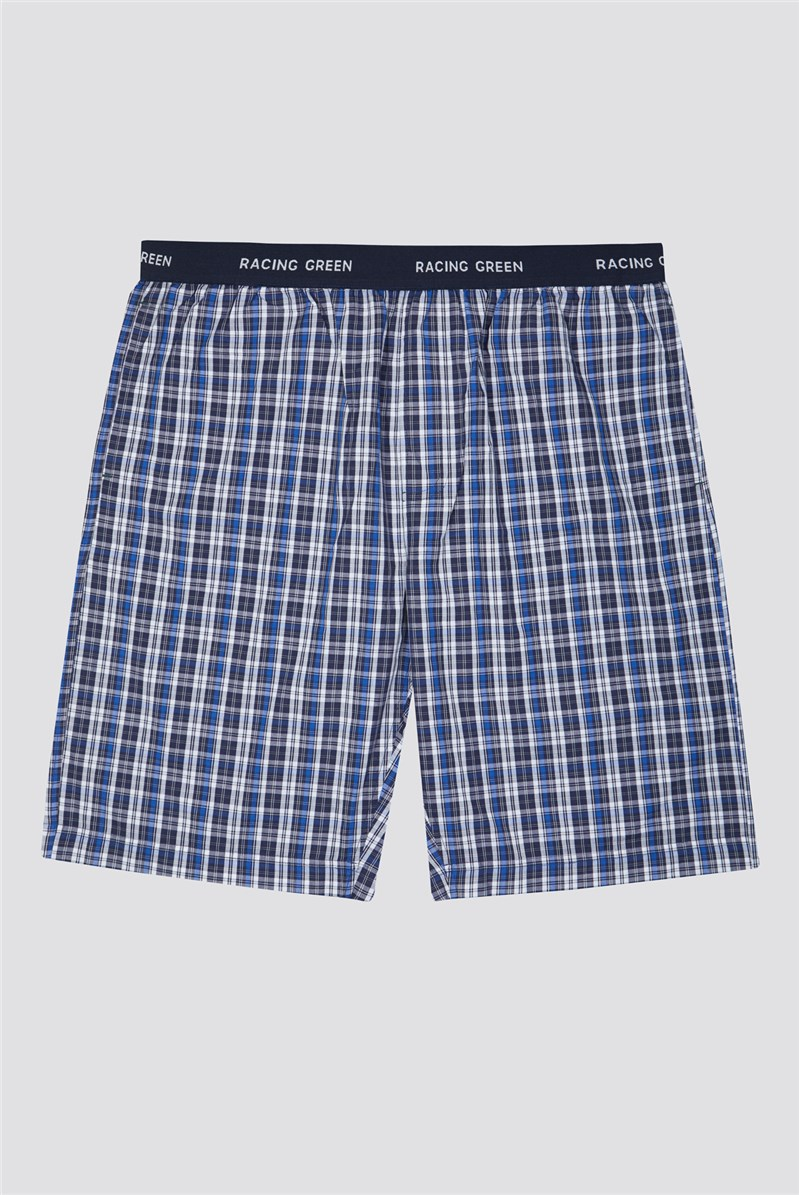 Cotton Poplin Check Loungewear Shorts