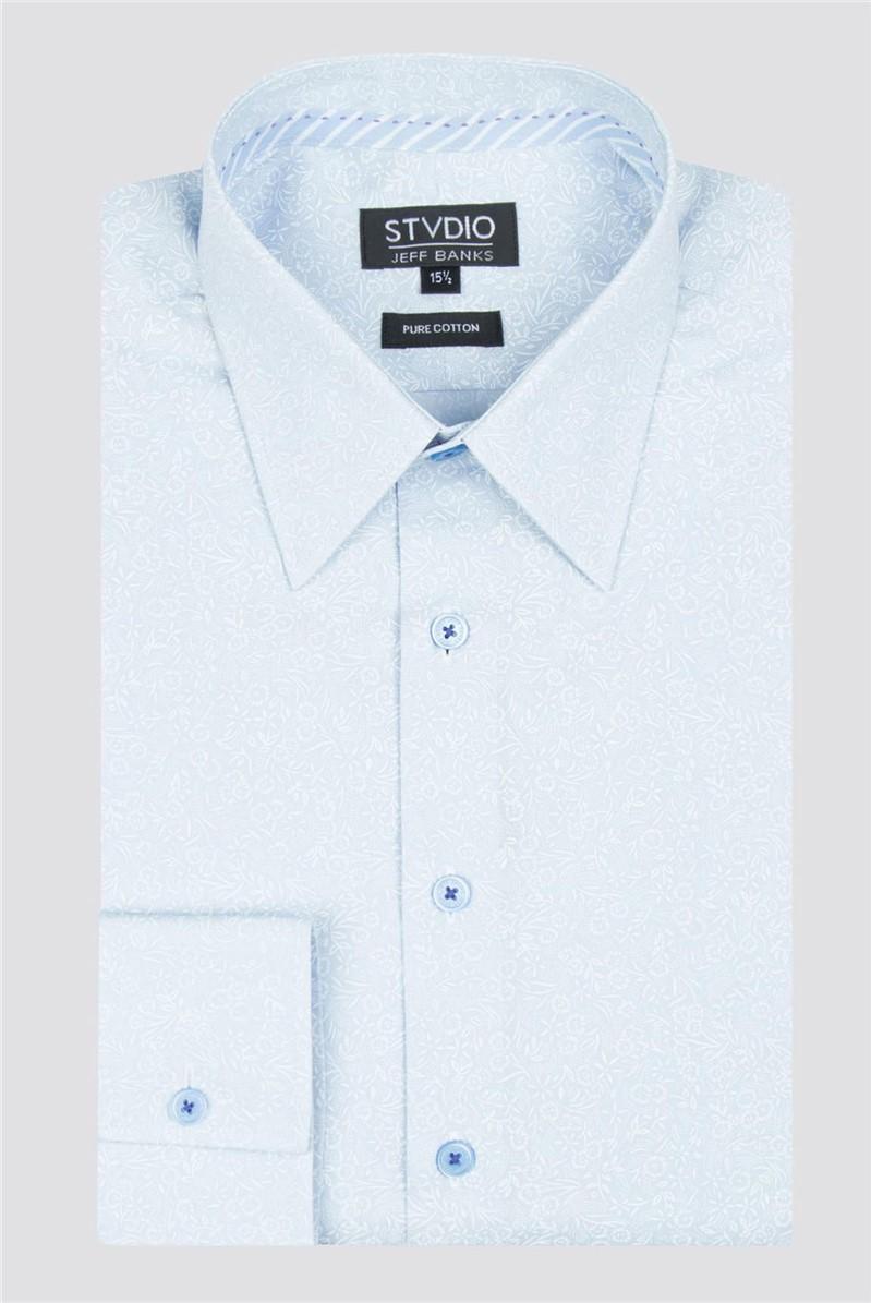 Stvdio Light Blue Scatter Print Shirt