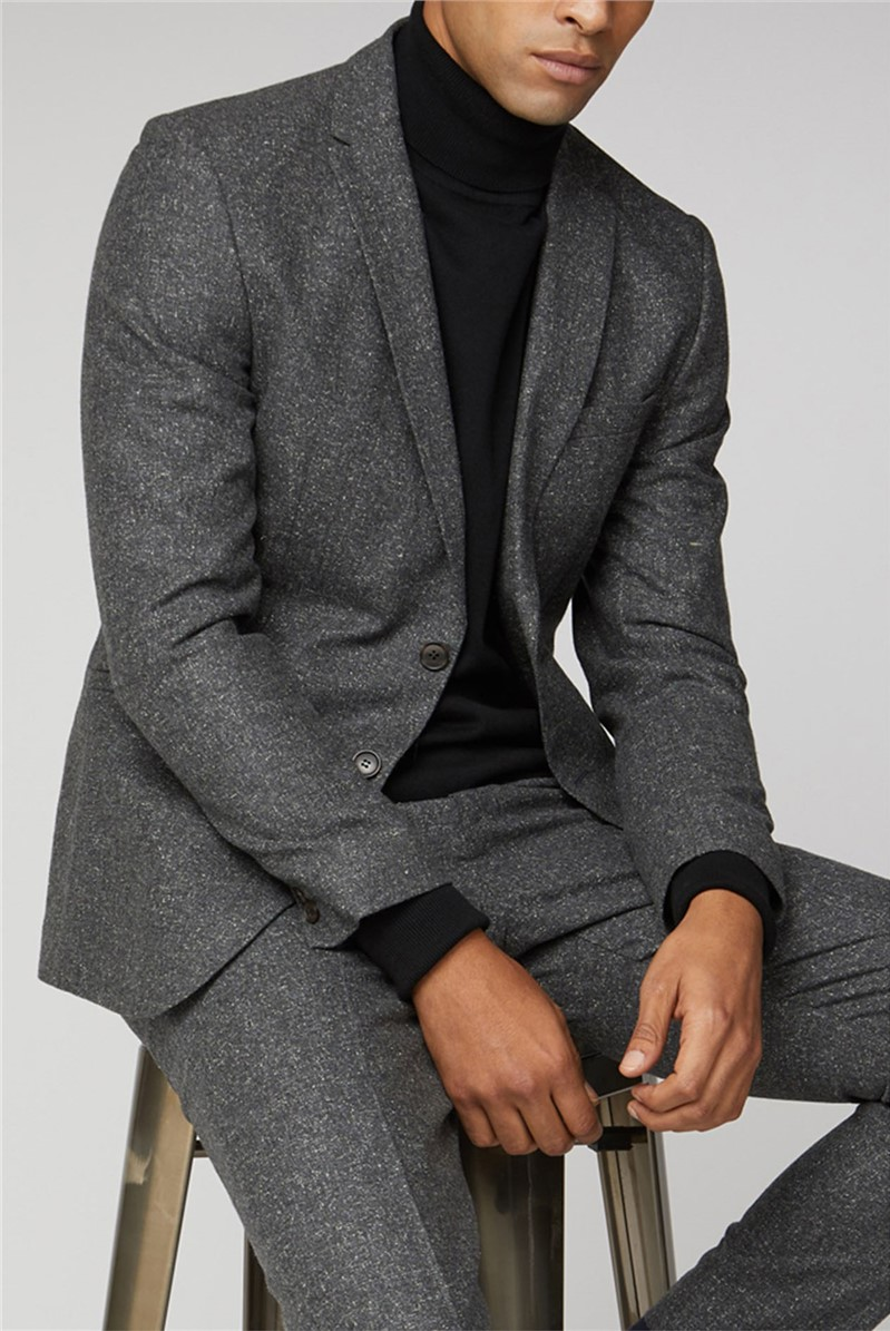 Charcoal Speckle Unstructured Camden Jacket