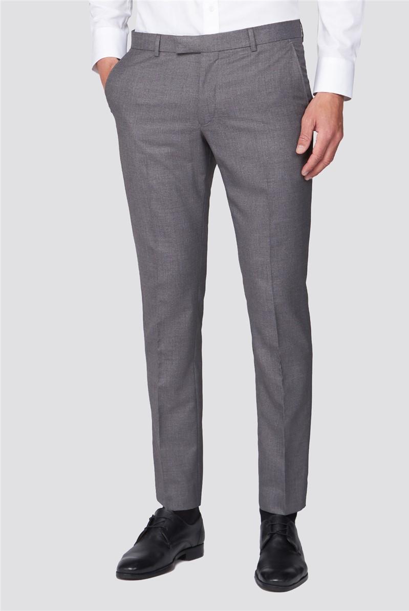 Grey Skinny Fit Suit Trouser
