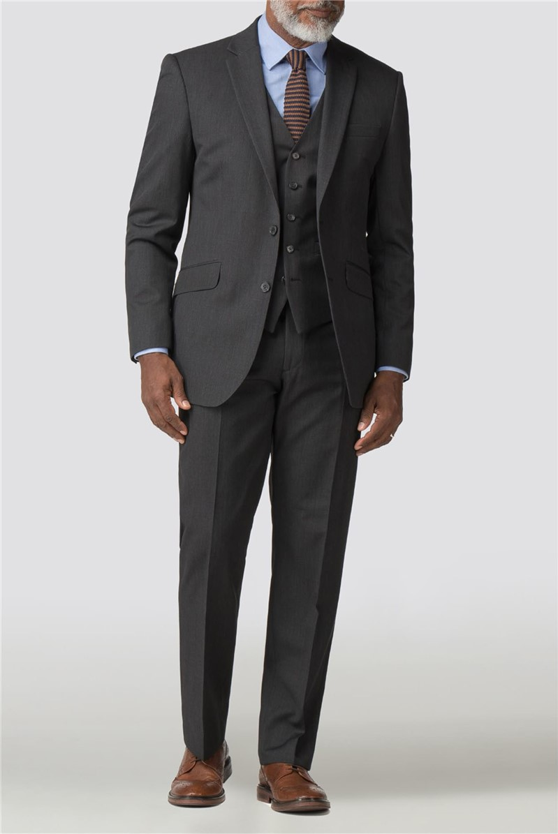 Charcoal Twill Performance Suit