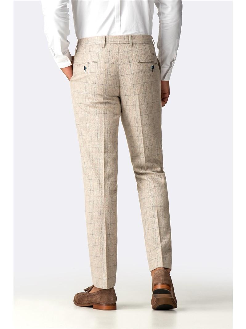 Harding Cream Check Trouser