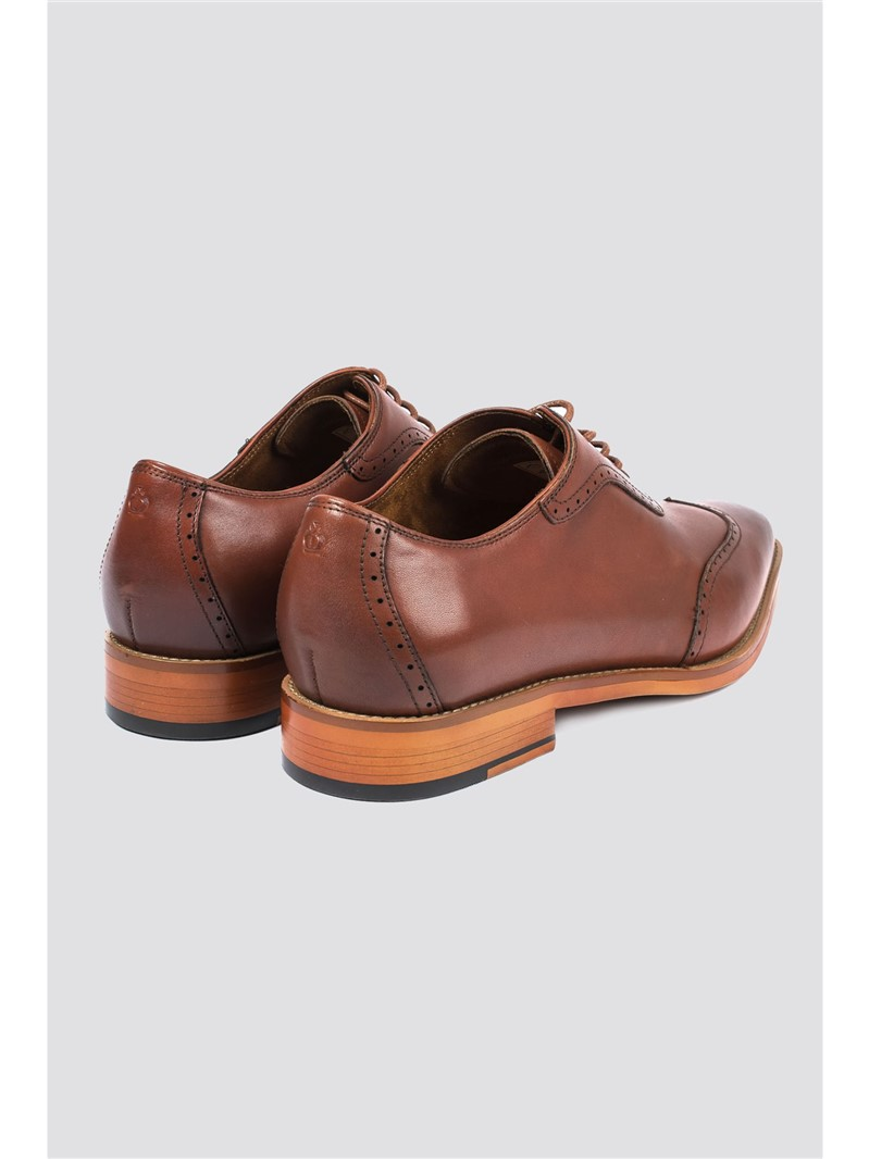 Outlet Tan Leather Brogue