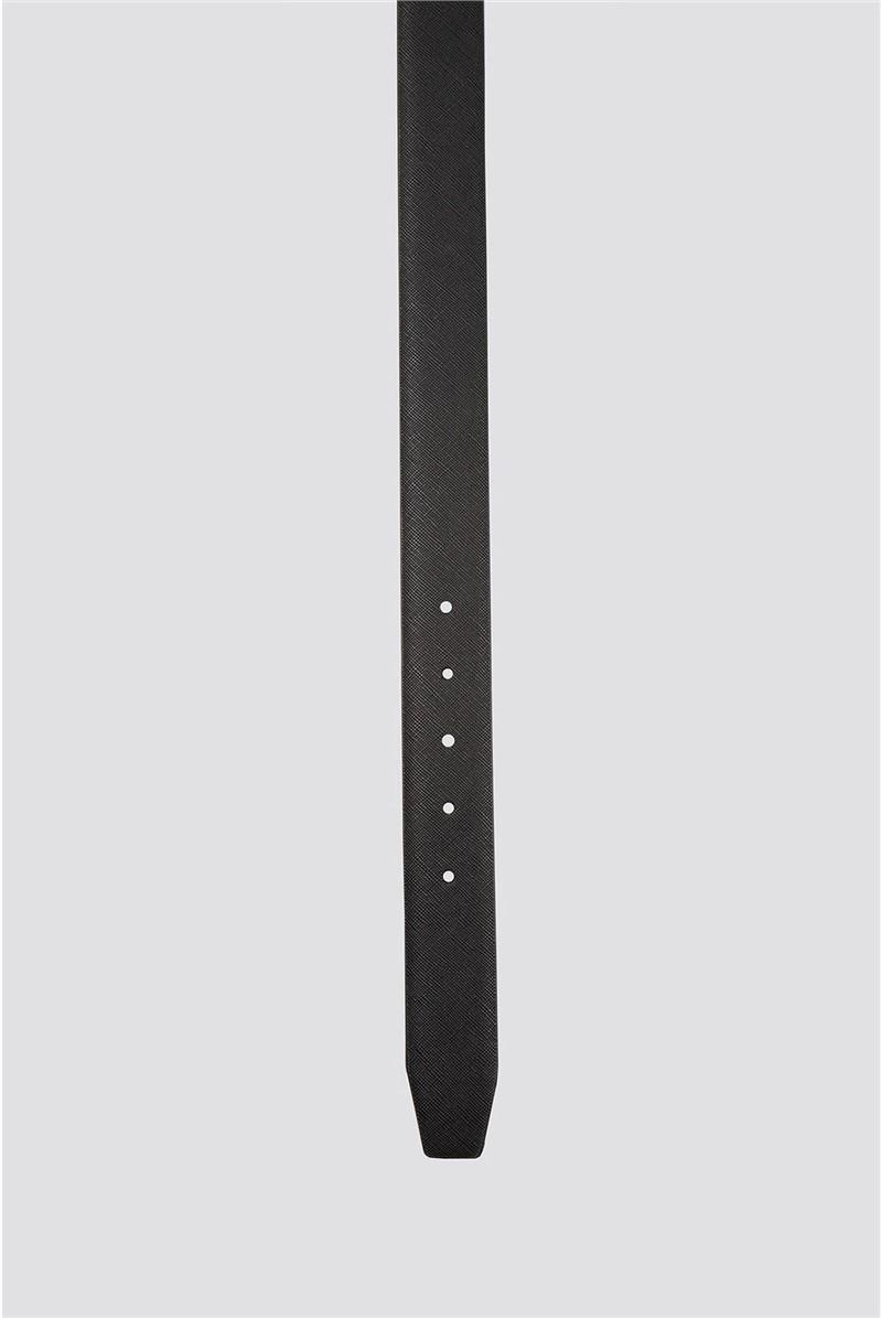Saffiano black PU formal Belt