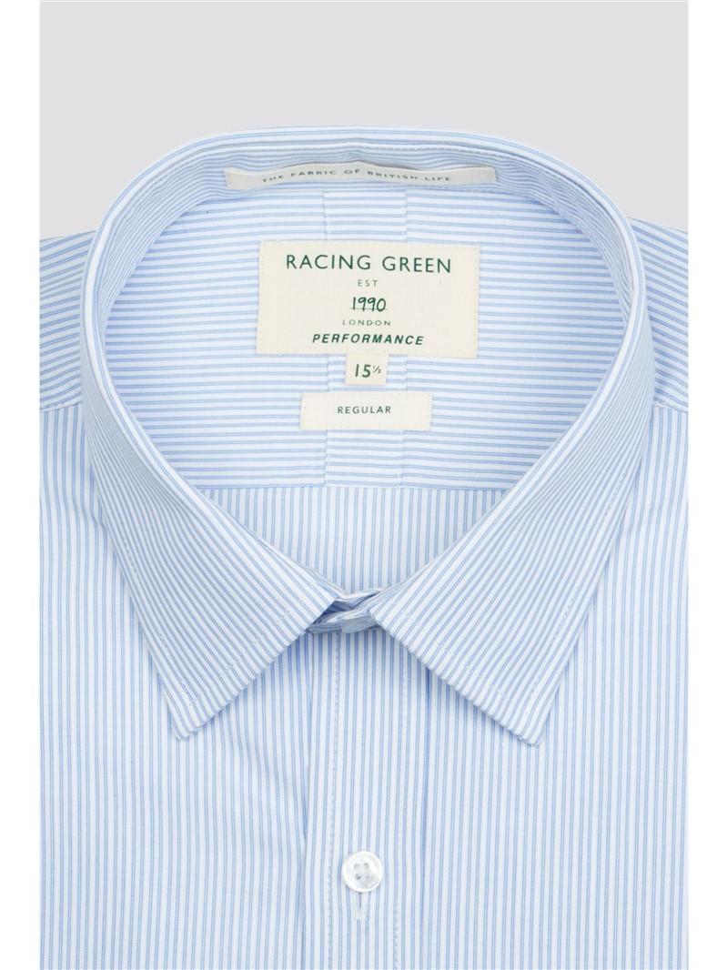 Blue Seasonal Stripe Performance Shirt