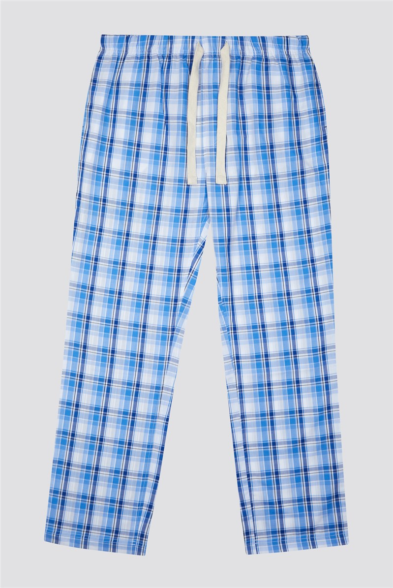 Blue Check Loungewear Pant