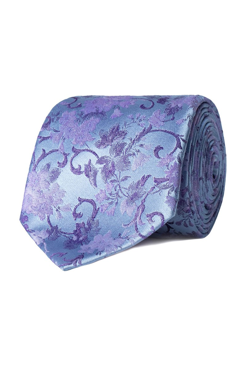 Studio Stvdio by Light Blue Swirled Floral Tie