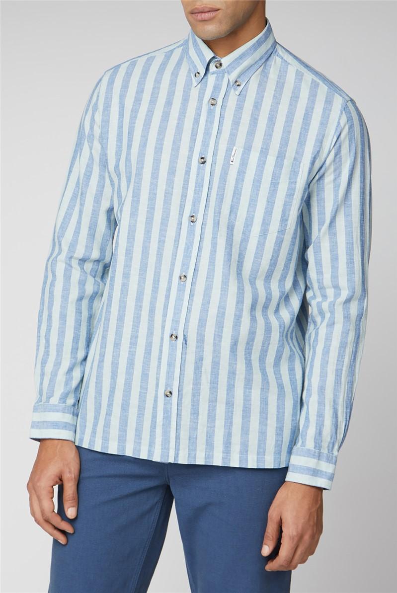 Linen Candy Stripe Shirt