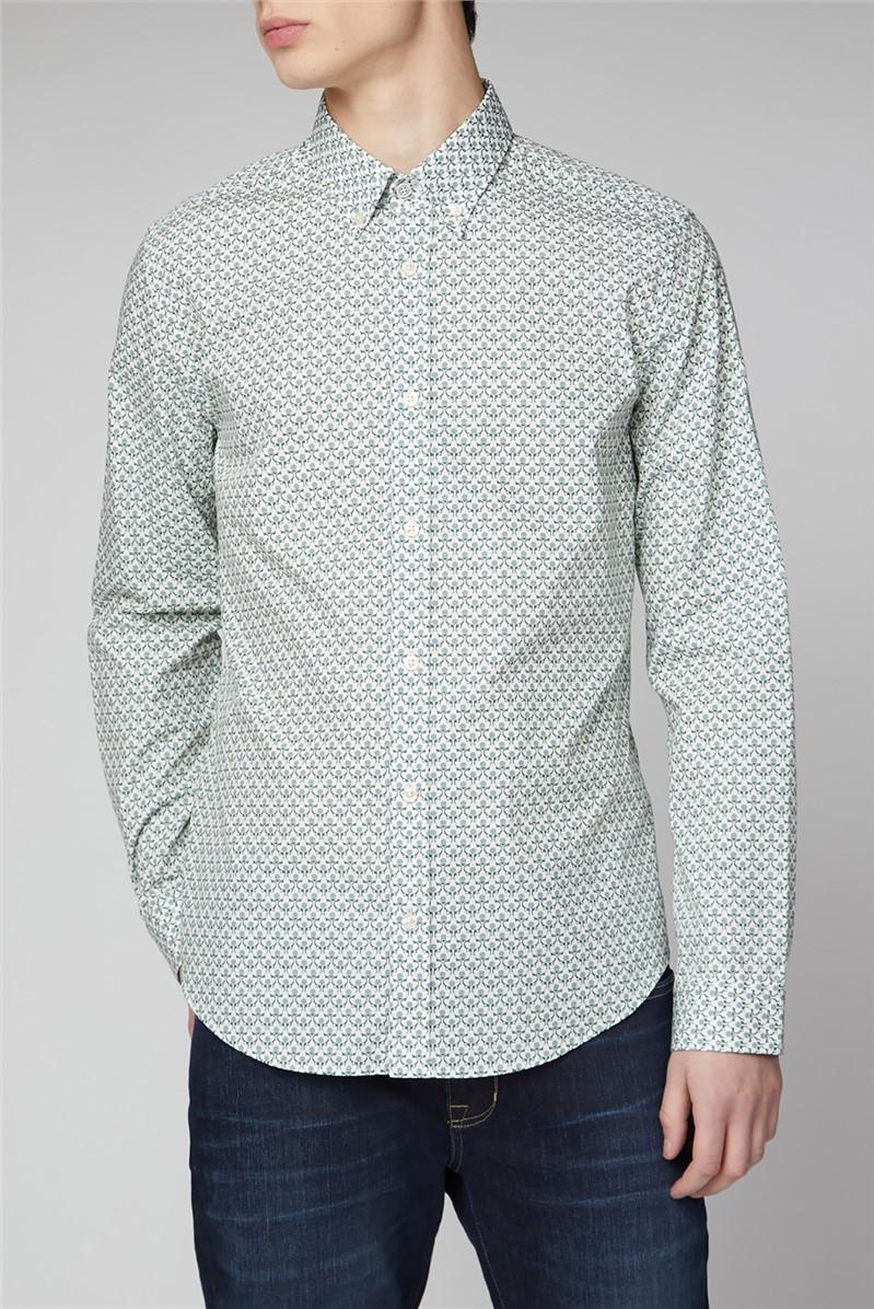 Two Colour Print Shirt
