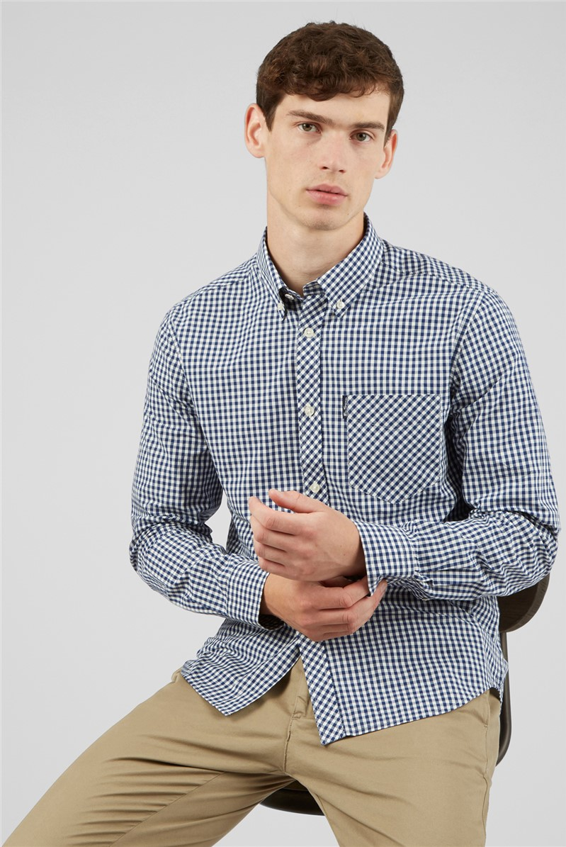 Signature Long Sleeved Gingham Shirt