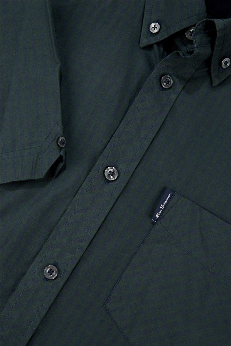 Dark Green Signature Gingham Short Sleeved Shirt