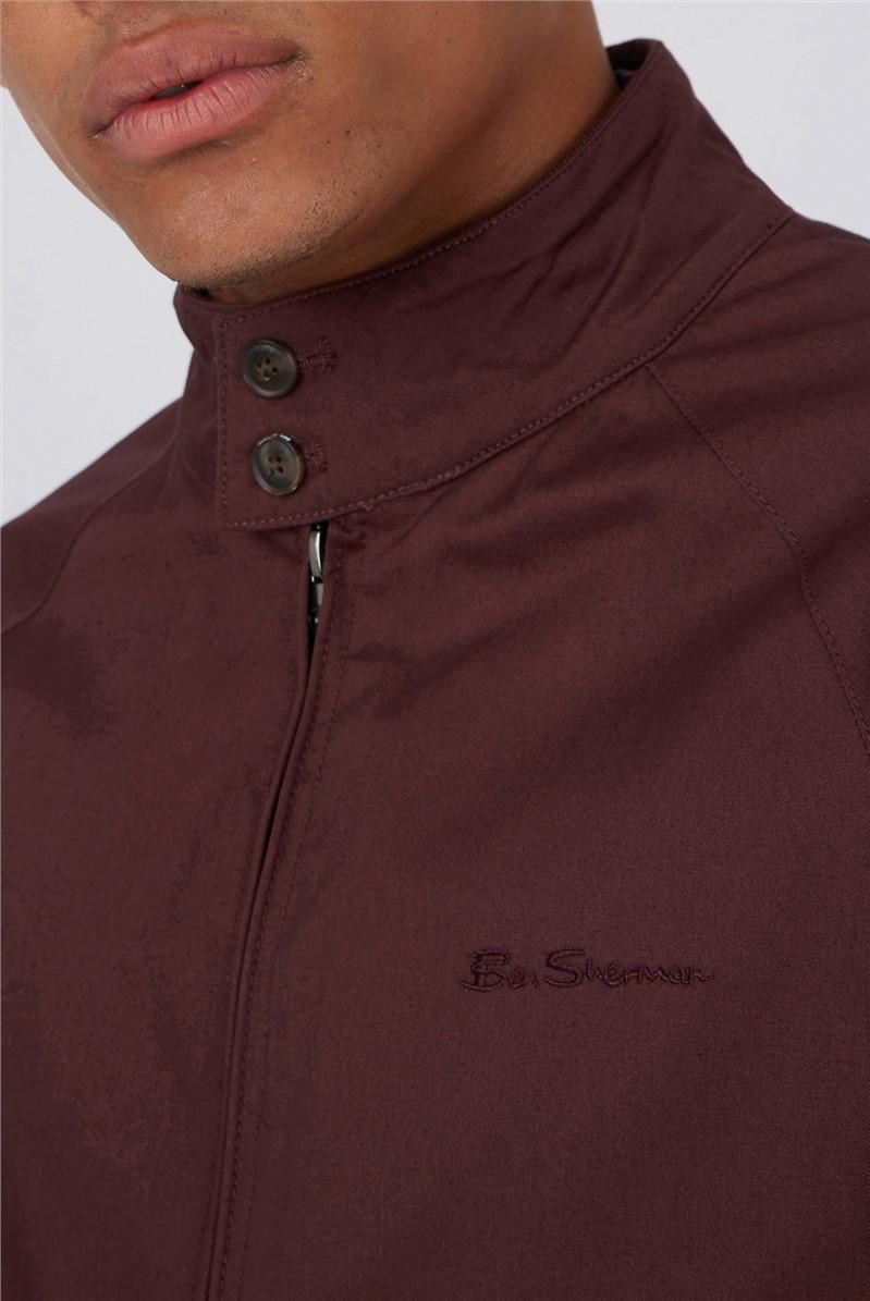 Bordeaux Signature Harrington Jacket