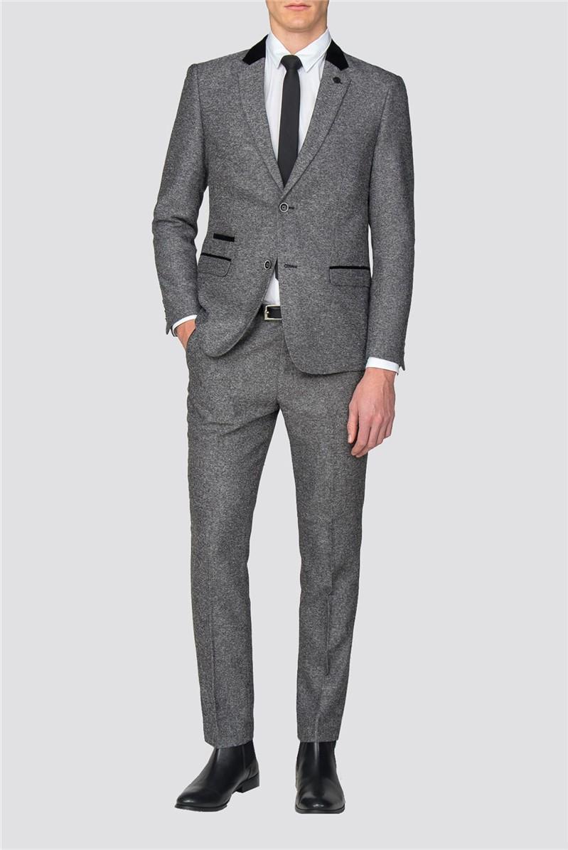 Victor Grey Herringbone Suit