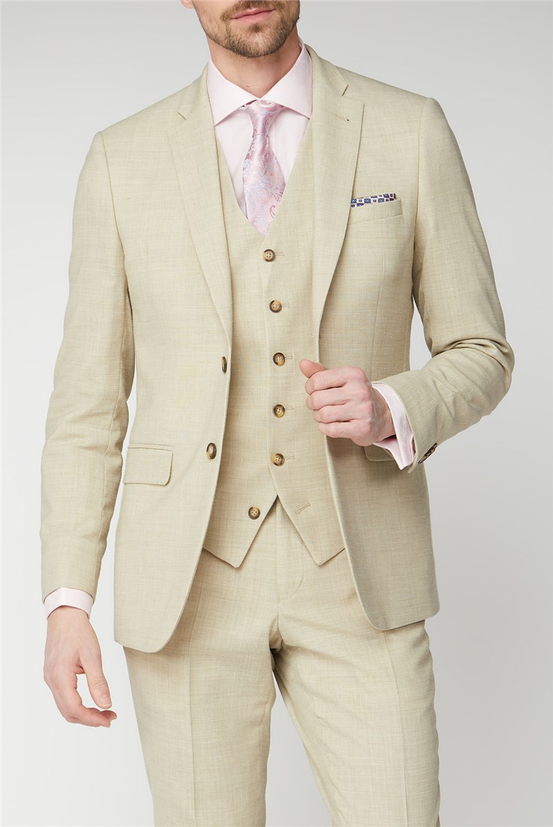 Jeff Banks Outlet Oatmeal Linen Tailored Jacket