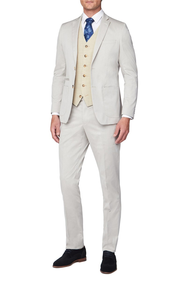 Oatmeal Textured Mixed Tailoring Suit