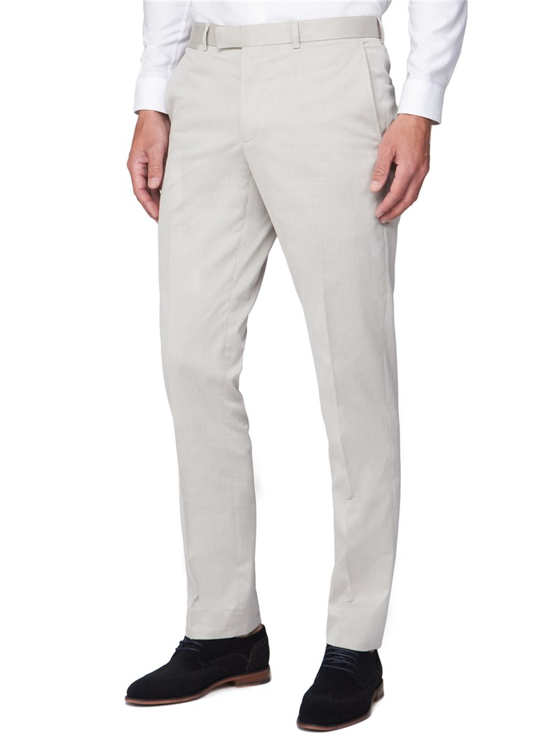 Oatmeal Texture Mixed Tailoring Trouser