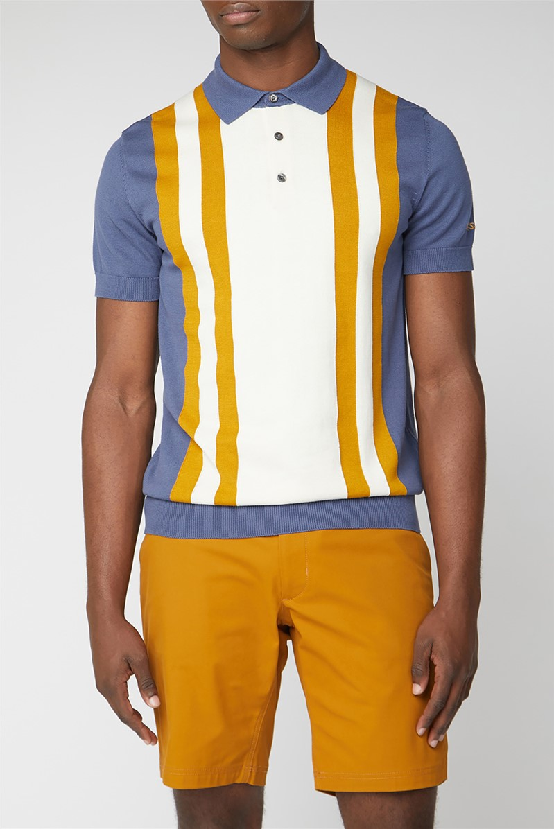 Colour Block Knitted Polo